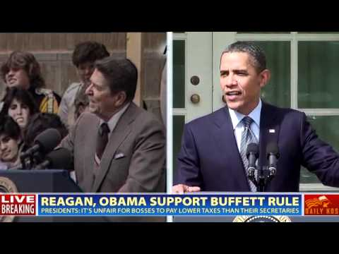 Presidents Reagan and Obama support Buffett Rule