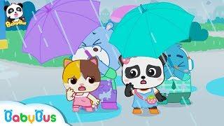 好大的雨,小朋友們要注意安全   安全教育兒歌   童謠   動畫   卡通   寶寶巴士   奇奇   妙妙
