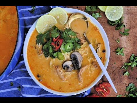 Soup Recipe: Thai Style Chicken Noodle Soup by Everyday Gourmet with Blakely