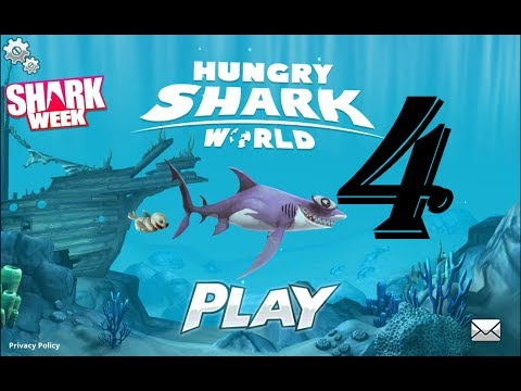 Hungry Shark World 4- STETHACANTHUS AND HAMMERHEAD!