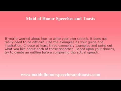 30 Maid Of Honor Speech Examples – Ideas For 2018, Free Templates