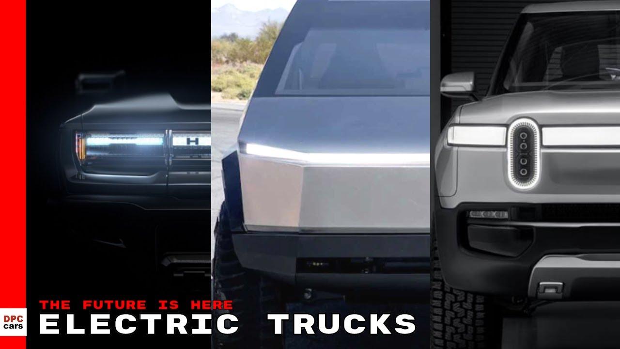 Electric GMC Hummer EV vs Tesla Cybertruck vs Rivian R1T ...