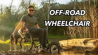 How to turn ANY everyday wheelchair into an OFF-ROAD wheelchair // FREEWHEEL REVIEW