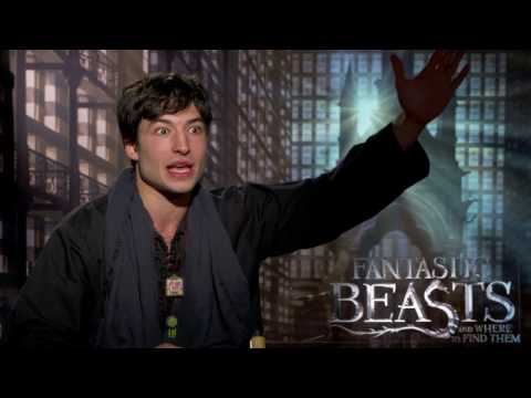 Fantastic Beasts: Ezra Miller exchanges Harry Potter Pickup lines w/ Ari