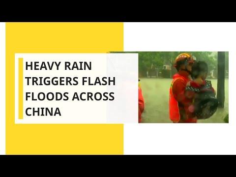 Heavy rain triggers flash floods across China