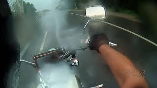 honda vt 750  (shadow)/поездка в дождь/мото клип