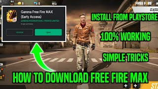 HOW TO DOWNLOAD FREE FIRE MAX IN TAMIL || HOW TO DOWNLOAD FREE FIRE MAX IN PLAY STORE IN TAMIL ||CMD