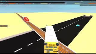 roblox fahren ein Auto in einen Zug oder was von ihm übrig ist (link in desc)