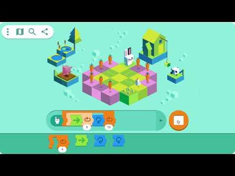 Kid Coding Google Doodle Level 6 Solution in 4 Steps