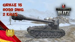 WotBlitz - Grille 15 - 8050DMG - 2 kills