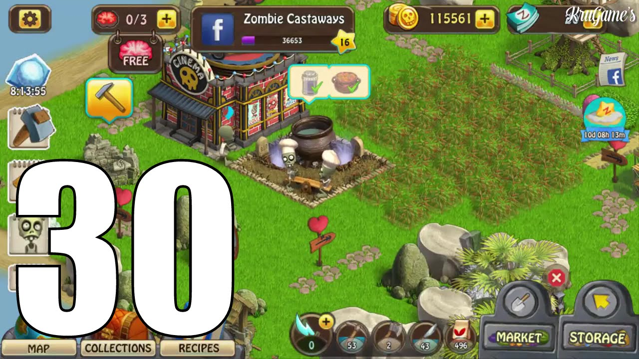 Zombie Castaways Android Gameplay #30 - Level 16 - YouTube