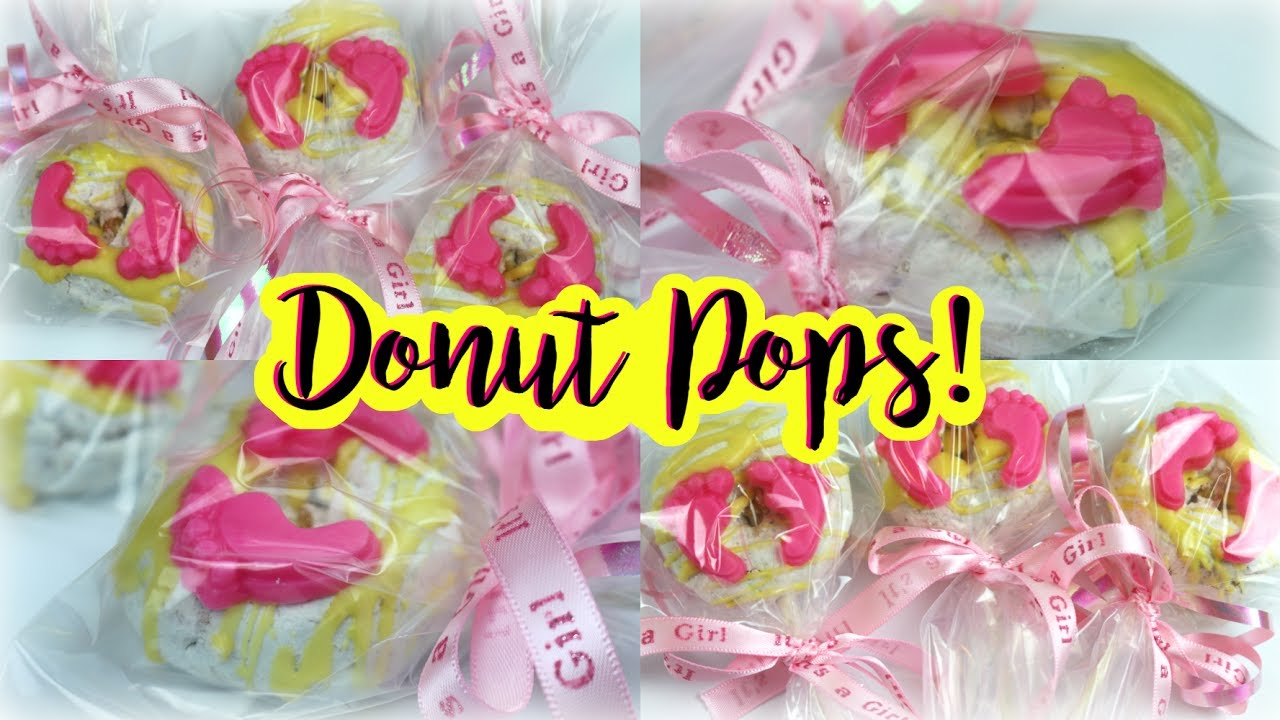 Donut Pops Hack Its A Girl Baby Shower Treats Youtube