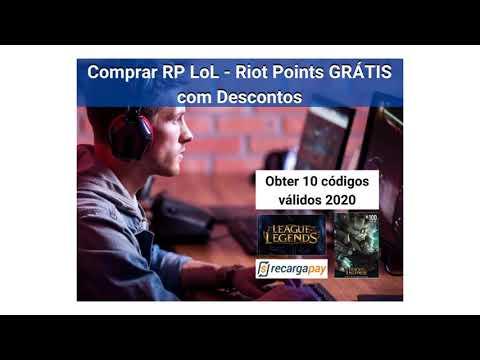 Comprar RP LoL - Riot Points GRÁTIS com desconto