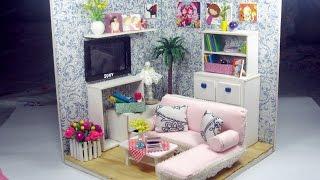 DIY Dollhouse Miniature Living Room (FULL Video) | Cách tự làm căn phòng khách cho búp bê | Ami DIY
