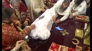 Changing of Robes for Incorrupt Serbian Orthodox King, St. Milutin