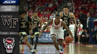 Wake Forest vs. NC State Condensed Game | 2019-20 ACC Men's Basketball