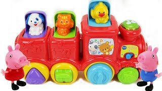 VTech Roll and Surprise Animal Train - Peppa Pig & George Pig - Toy Learning Video for Toddlers