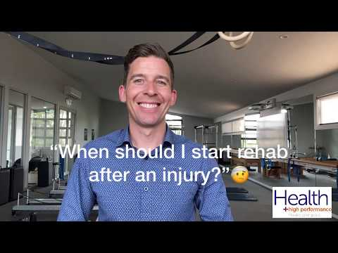When should I start rehab after an injury? | Melbourne Sports Chiropractor