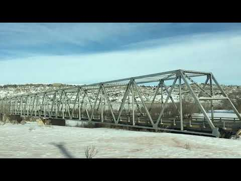 Long X Bridge in Winter, Driving to the CCC Camp.   North Dakota   January 2017