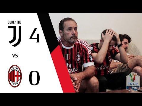 FINALE REGALATA. | JUVENTUS 4-0 MILAN - FINALE COPPA ITALIA GOL LIVE REACTION