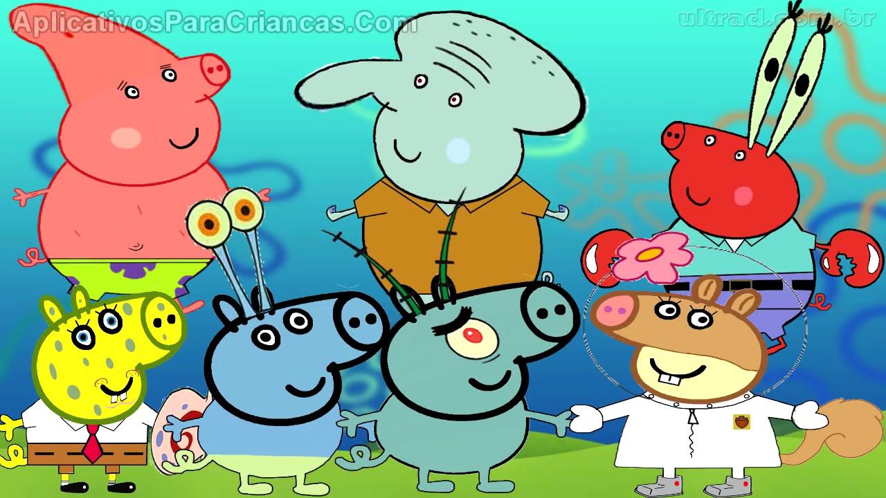 Свинка Пеппа Губка Боб квадратные штаны - YouTube