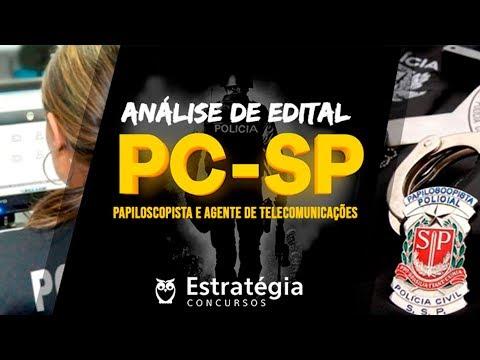 Análise de Edital | Papiloscopista e Agente de Telecomunicações PC - SP
