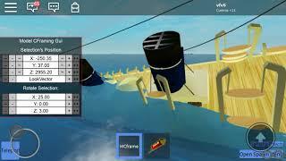 Sinking R.M.S Jessica Anne final plunge in roblox