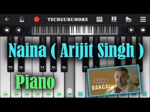 Naina (Arijit Singh) Easy Piano Tutorial    Dangal ♫