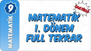 9. Sınıf Matematik  Taktiklerle 1. Dönem Full Özet
