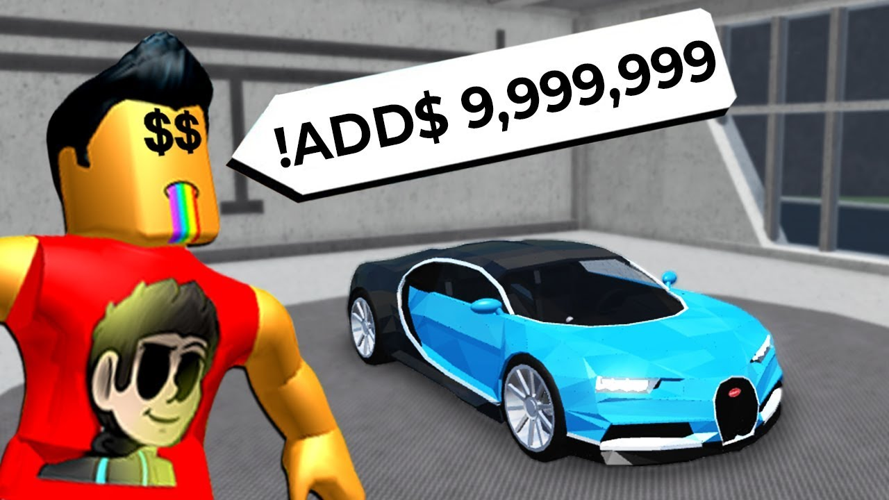 Using Admin Commands To Become Rich In Roblox Youtube