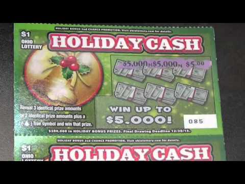 New! $1 Holiday Scratch off tickets! Ohio Lotto