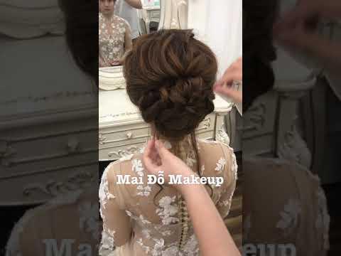 Hướng dẫn kiểu tóc tết mái xoắn buộc lọn ngày lễ ăn hỏi cho cô dâu – Mai Đỗ Makeup