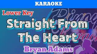 Straight From The Heart by Bryan Adams (Karaoke : Lower Key)