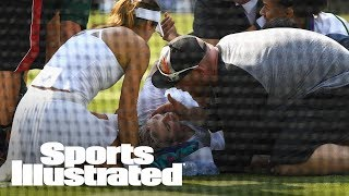 Bethanie Mattek-Sands Suffers Gruesome Knee Injury During Wimbledon | SI Wire | Sports Illustrated
