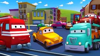 Поезд Трой и Автовоз в Автомобильный Город |Мультфильм для детей