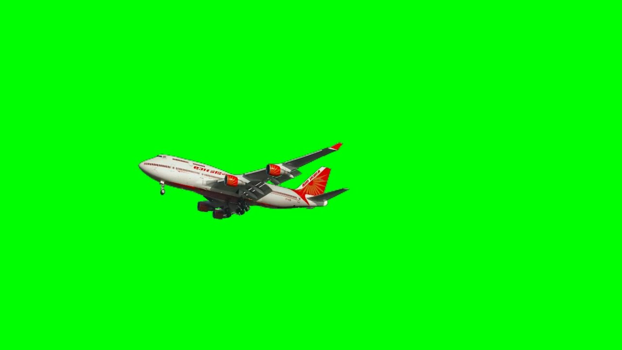 Airplane Airbus With Sound Free Green Screen Background Animation YouTube