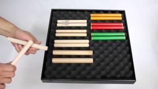 Claves Erable 15.5X1.6cm - Finition Naturelle - 1+ vidéo