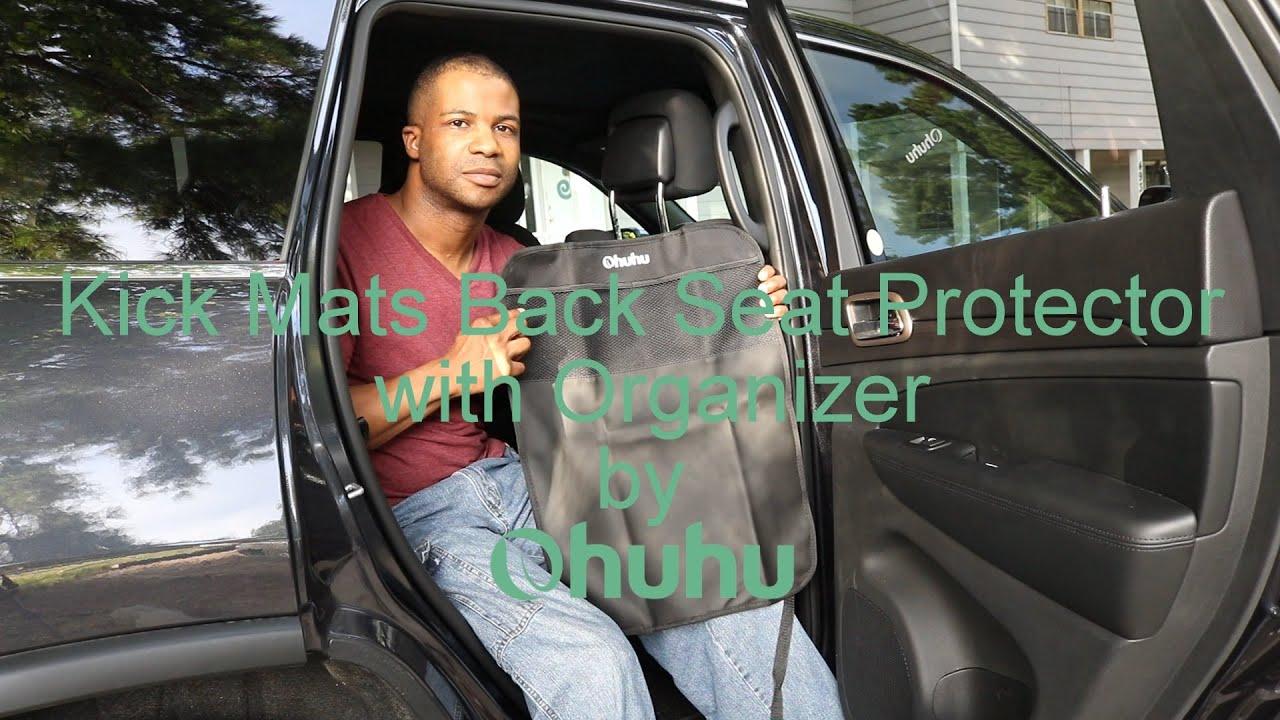 Ohuhu Kick Mats Back Seat Protector with Organizer - YouTube