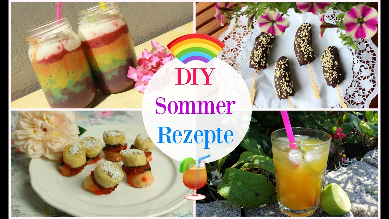 4 diy sommer rezepte 2 getr nke und 2 snacks youtube. Black Bedroom Furniture Sets. Home Design Ideas