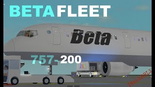 Roblox Beta fleet 757-200 First class!