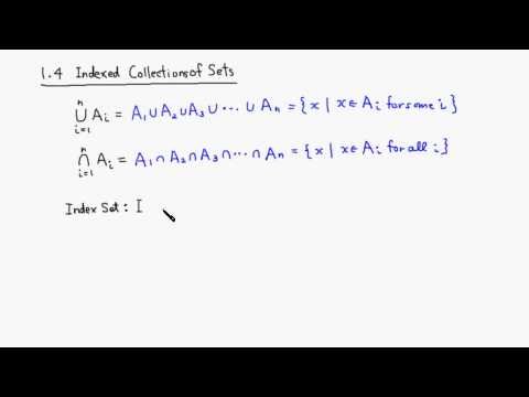 1.4: Indexed Collections of Sets