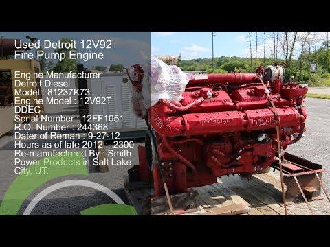 Used Detroit 12v92t Engine For Sale Fire Pump Engine 12v92t Ddec