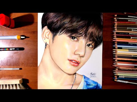 drawing-bts-jungkook---marki-draws,-colored-pencil