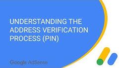 Understanding the address verification process (PIN) for AdSense