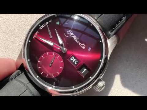 2019 H. Moser & Cie Pioneer Perpetual MD Burgundy: Dubai Watch Week 2019
