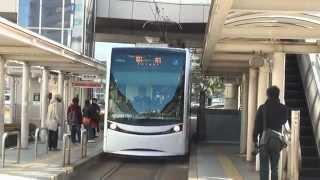 豊橋鉄道T1000形 ほっトラム駅前入線~発車