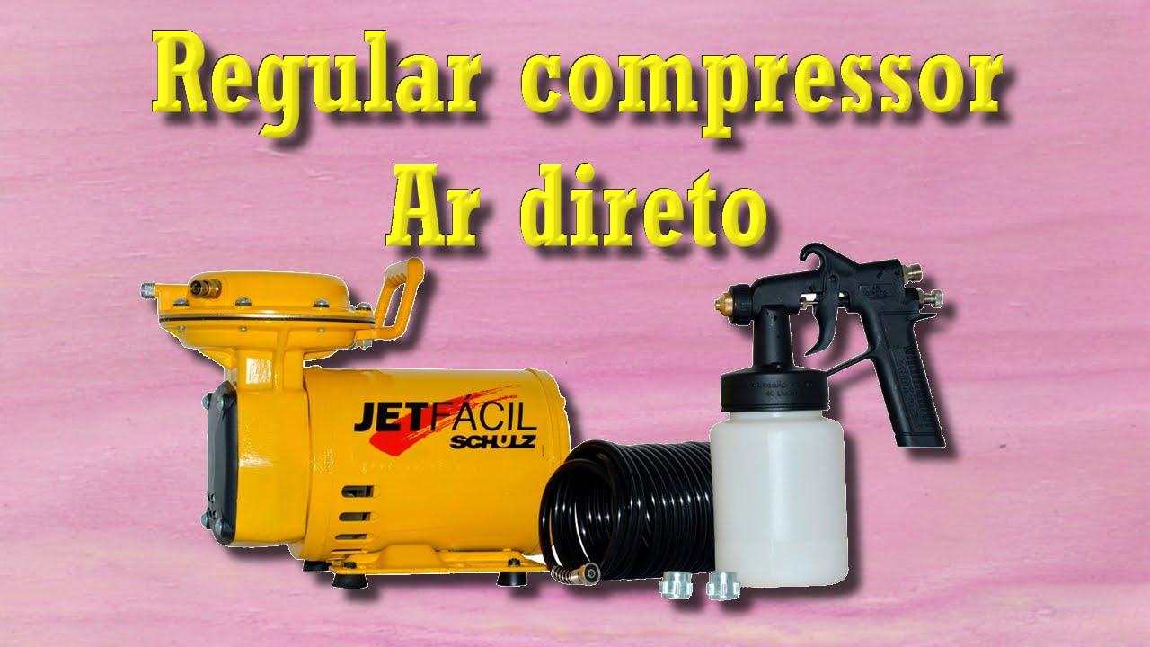 edbcdfd8d Como regular compressor ar direto para pinturas - YouTube