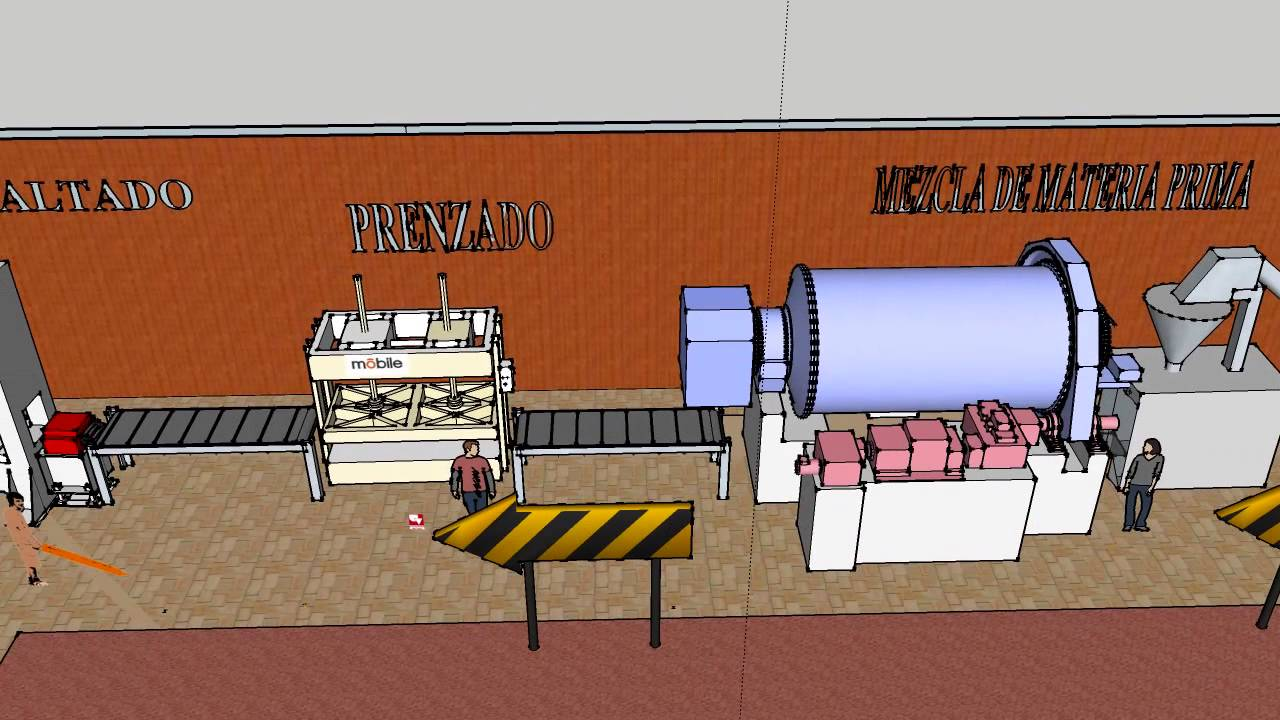 Fabrica de baldosas dise o de plantas industriales youtube for Fabrica de baldosas en santiago