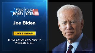 President-elect joe biden will address the nation saturday at 8 p.m. et from wilmington, delaware, campaign said, after nbc news projected that he ...