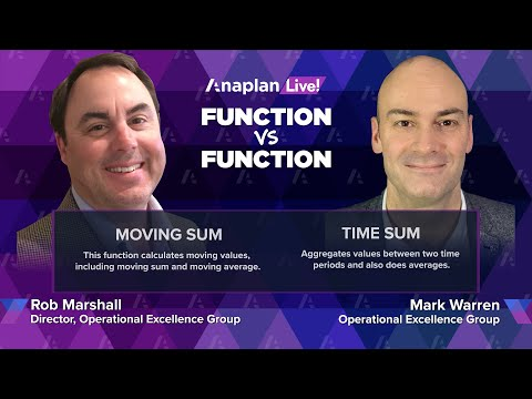 Function vs. Function: MOVINGSUM vs. TIMESUM - Anaplan Live! December 2020